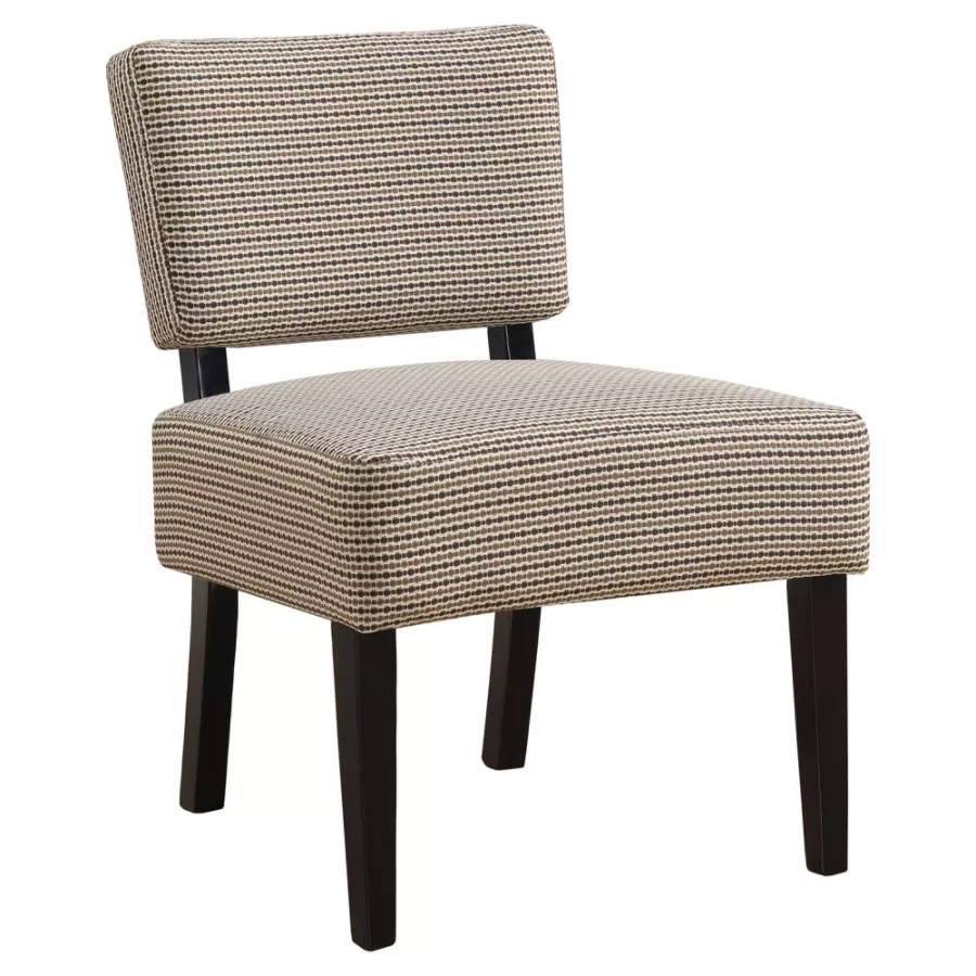 brown slipper chair wicker back repair monarch specialties armless accent brownblack by office depot officemax
