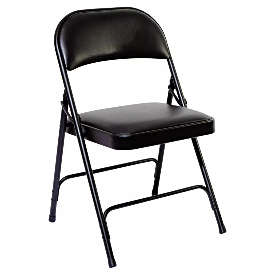 steel chair for office white crushed velvet covers alera folding chairs padded seat and back graphite carton of 4 use keys to zoom in out arrow move the zoomed portion image