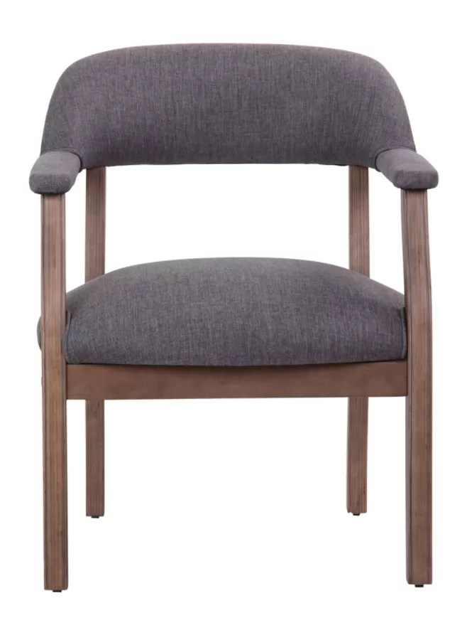 brown office guest chairs wedding chair covers with sashes boss traditional slate graybrown by depot officemax