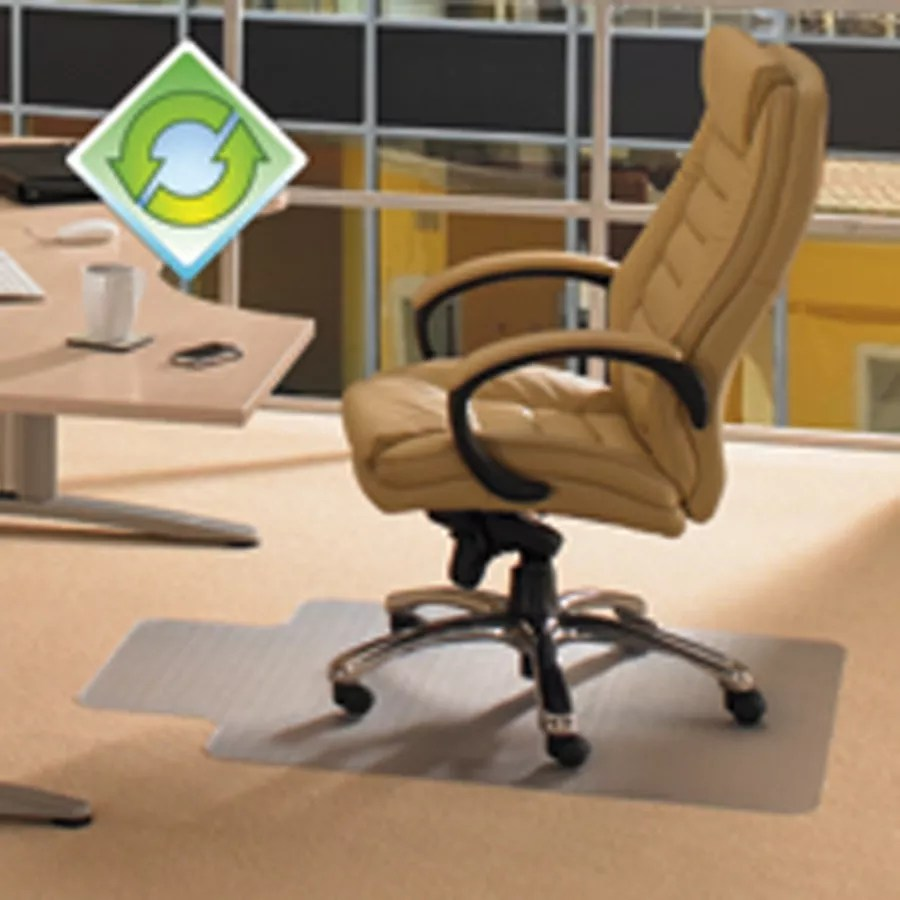 officemax chair mat space saving chairs ecotex evolutionmat polymer for hard floors 36 x 48 green tint by office depot