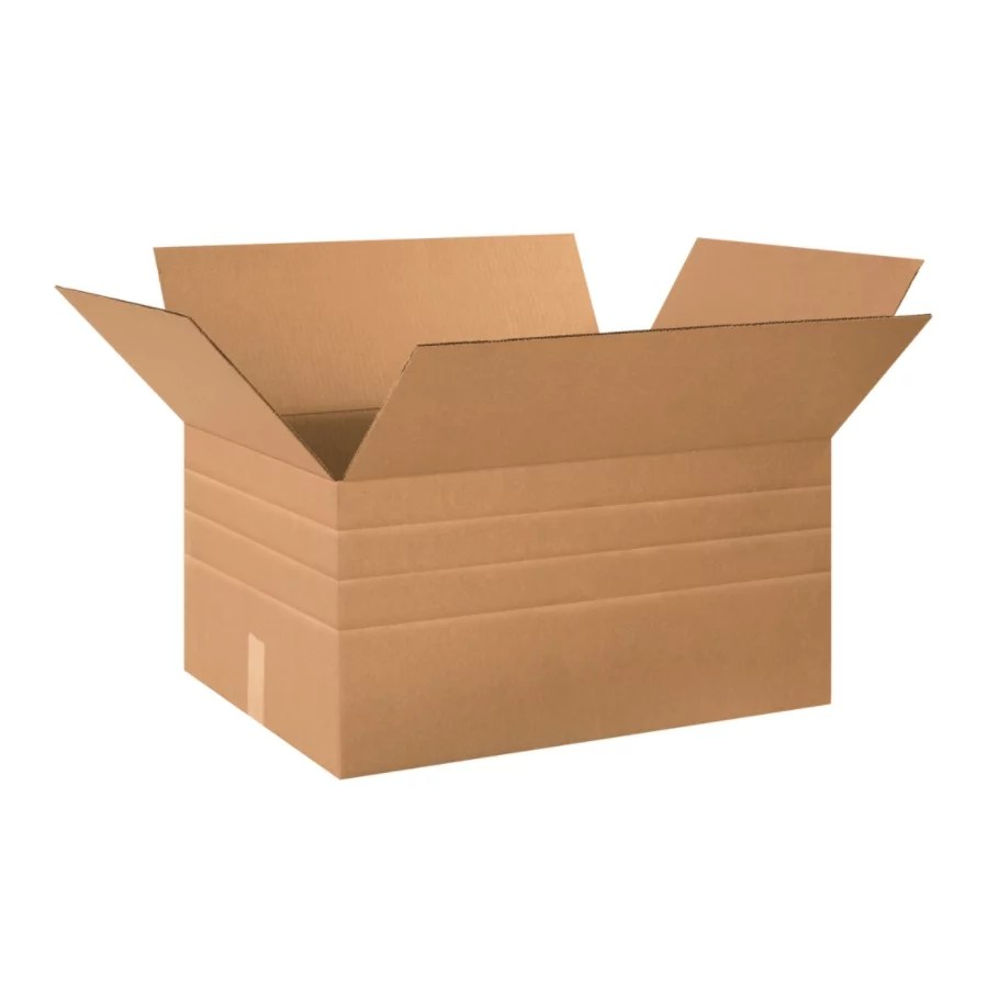 Office Depot Brand Multi Depth Corrugated Cartons 12 X 24 X 18 Kraft Pack Of 10 Office Depot