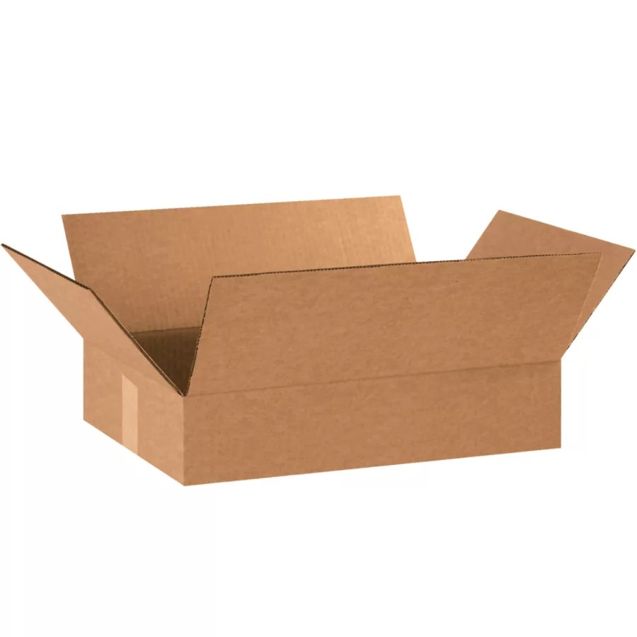 Office Depot Brand Corrugated Boxes Flat 3 H X 12 W X 18 D Kraft Pack Of 25 Office Depot