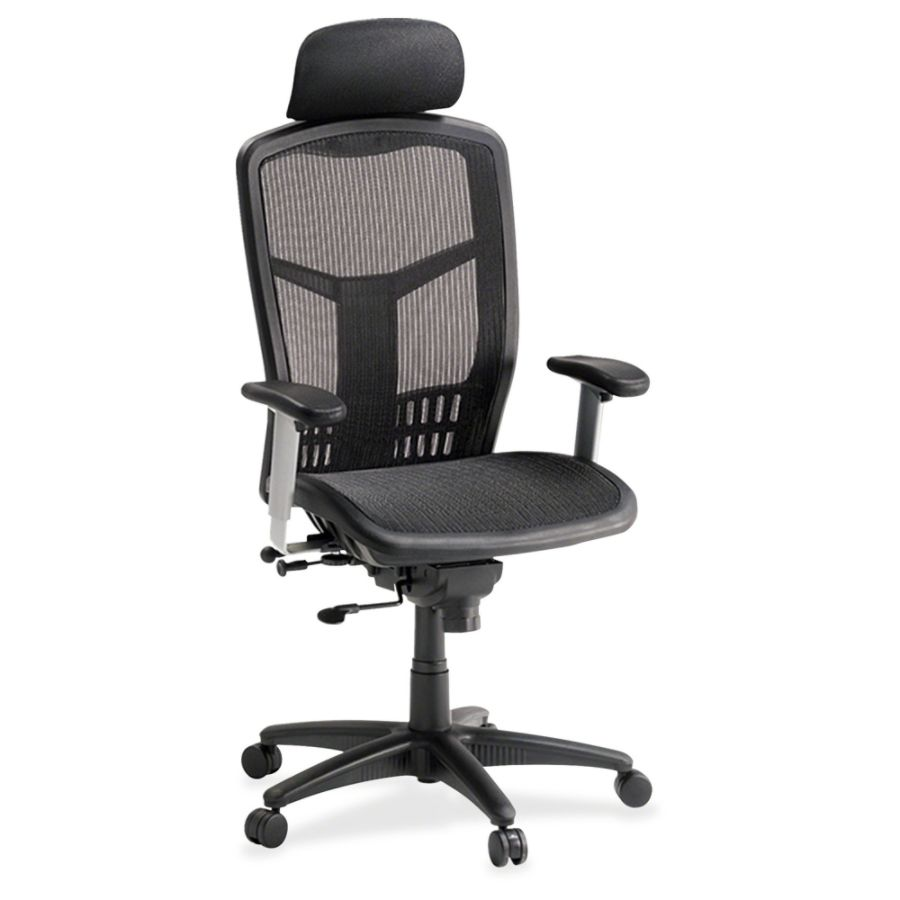 officemax ergonomic chair stackable plastic lawn chairs lorell mesh high back black by office depot &