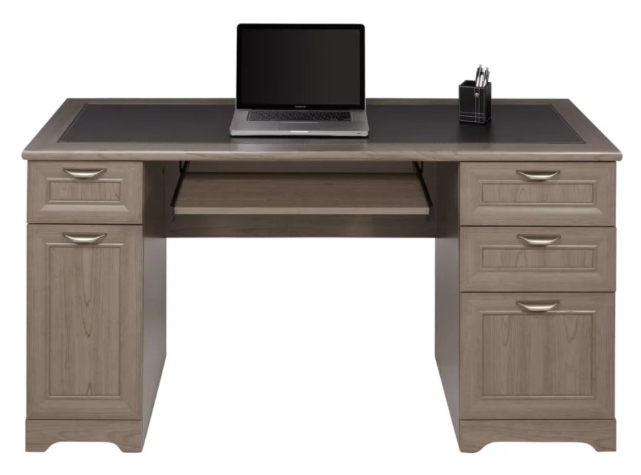 Realspace Magellan Managers Desk Gray  Office Depot
