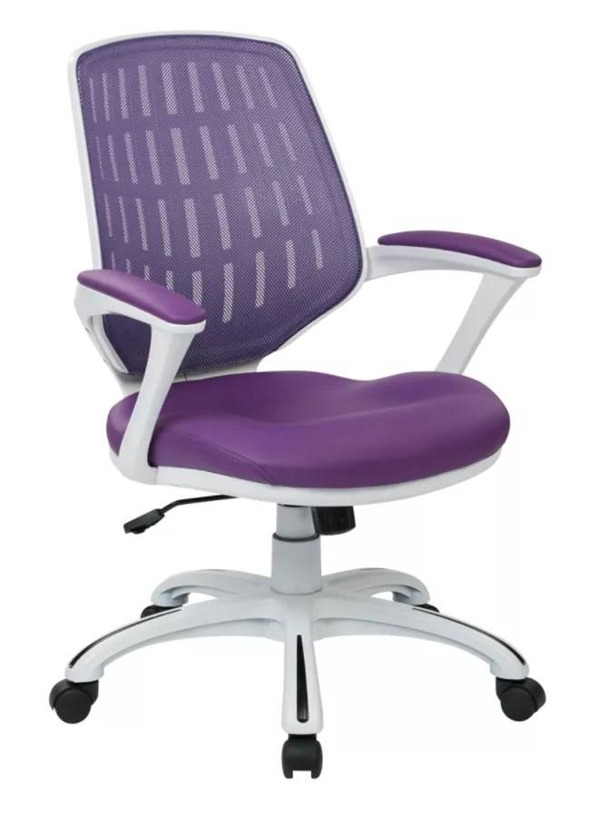 purple task chair antique morris rocker chairs office depot star avenue six calvin mesh