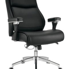 Leather Chair Modern Accent Chairs Uk Realspace Keera Onyxchrome Office Depot Comfort Bonded Mid Back Onyx Chrome