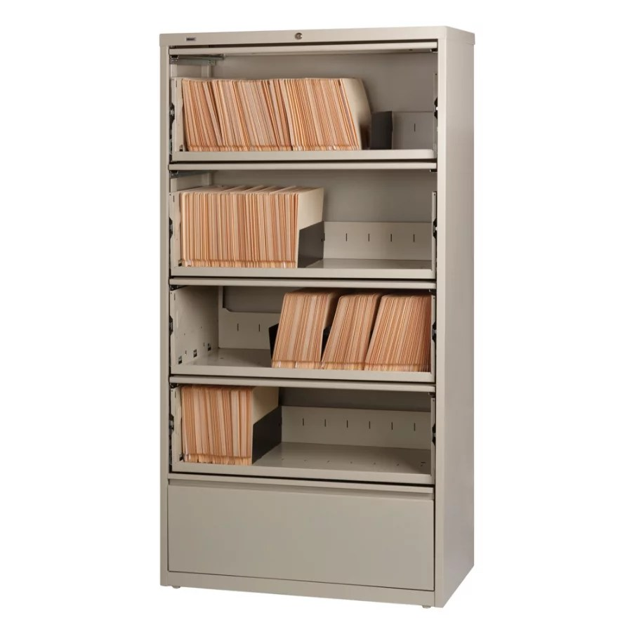 Lorell Fortress Series 36W 5 Drawer Steel Lateral File
