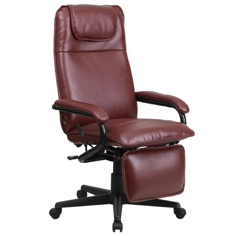 swivel chair dimensions dxracer parts flash furniture leather high back reclining