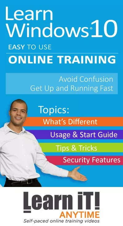 Learnit Anytime Online Windows 10 Training Office Depot
