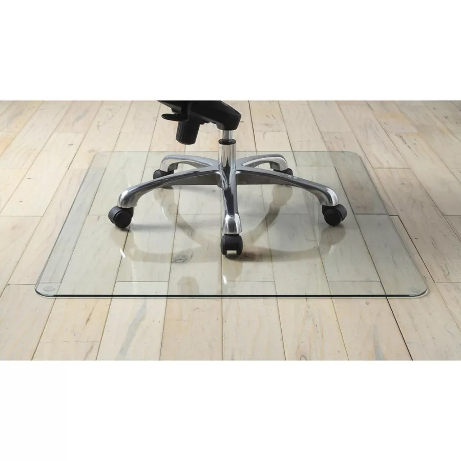 clear chair mat wood arm lorell tempered glass 44 x 50 office depot use and keys to zoom in out arrow move the zoomed portion of image