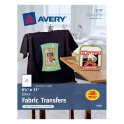 Avery's Chair Covers And More Ethan Allen Avery Personal Creations T Shirt Transfers Dark Pack Of 5 Office Depot