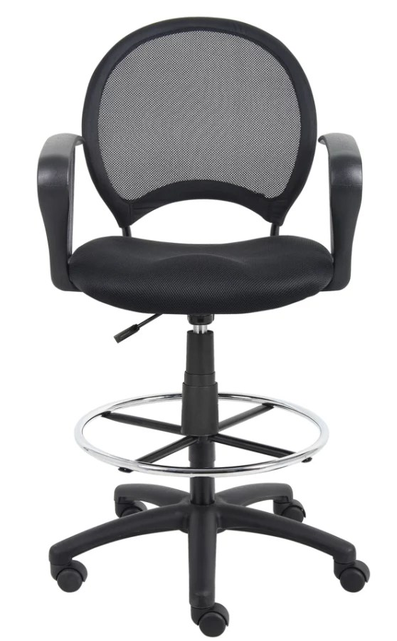 mesh drafting chair bergere chairs for sale boss stool with loop arms 45 12 h x 27 w d