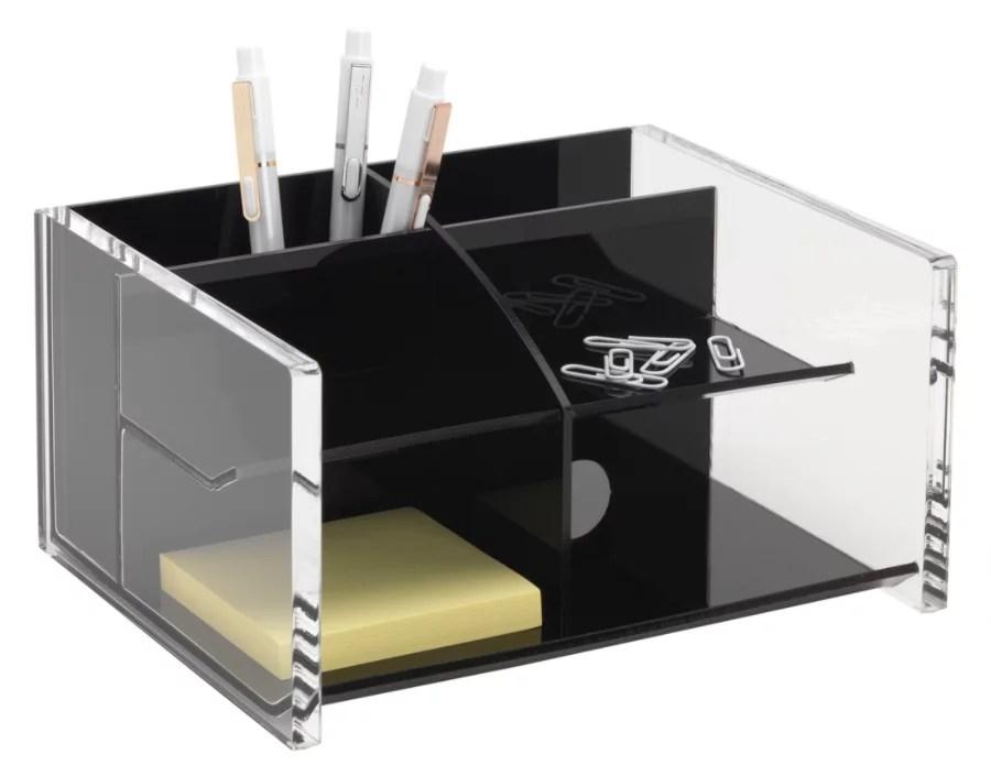 Realspace Acrylic Desk Organizer 6 58 H x 4 18 W x 8 516 D