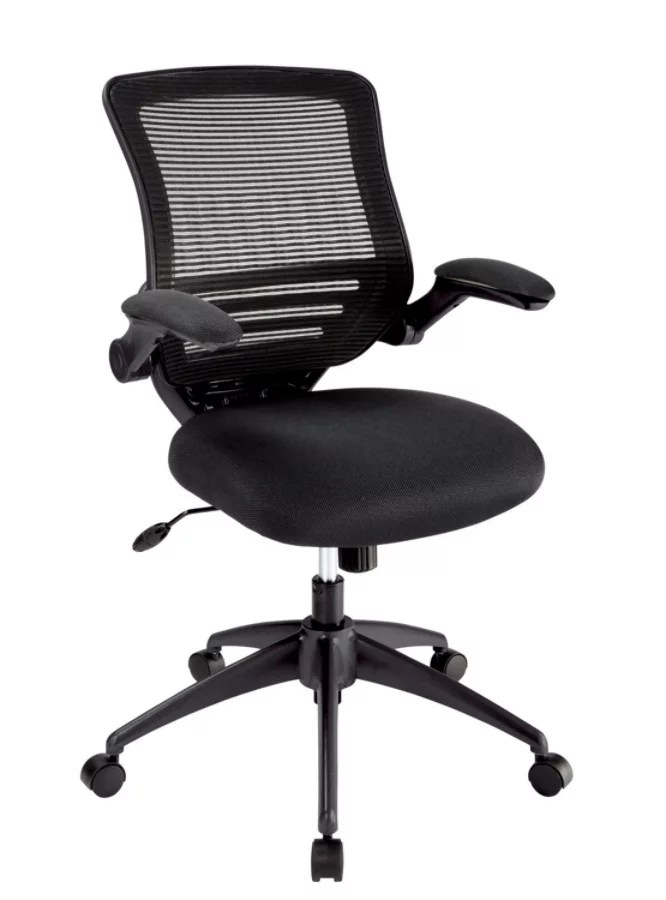mesh back chairs for office dental chair dwg realspace calusa mid black depot