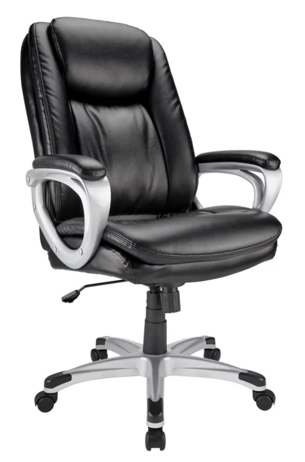 realspace fosner high back bonded leather chair desk teal browse office chairs depot officemax tresswell