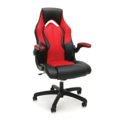 Office Chairs At Depot Swing Chair Baby Ofm Essentials Racing Style Faux Leather High Back Gaming New Padding Red