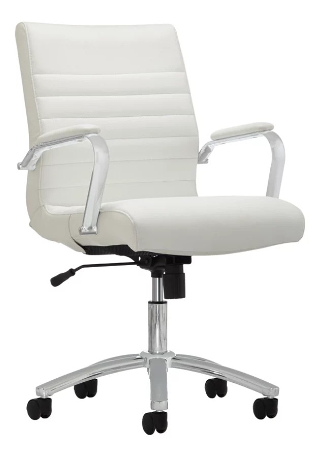 modern white desk chair black leather tufted realspace comfort winsley office depot series bonded mid back