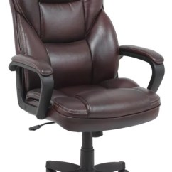 Realspace Fosner High Back Bonded Leather Chair Adrian Pearsall Designs Cabernet Office Depot