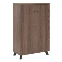 Ameriwood Home AX1 Storage Cabinet 5 Shelves Medium Brown ...
