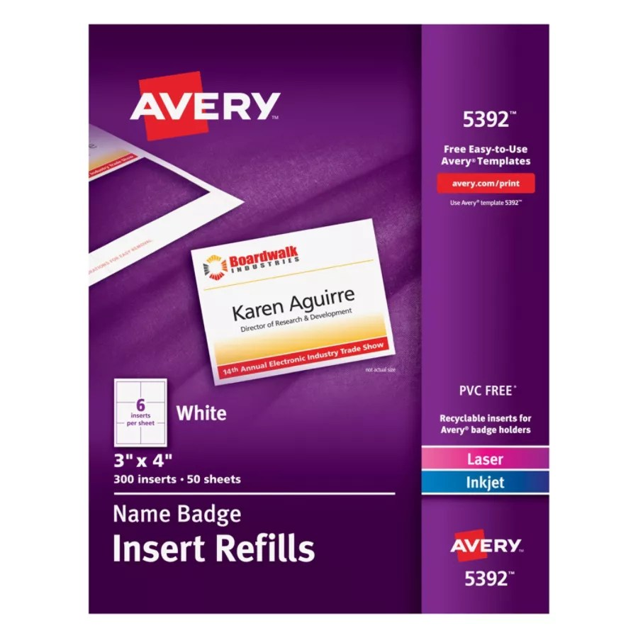 avery's chair covers and more salon mat avery laser name badge inserts 3 x 4 box of 300 office depot