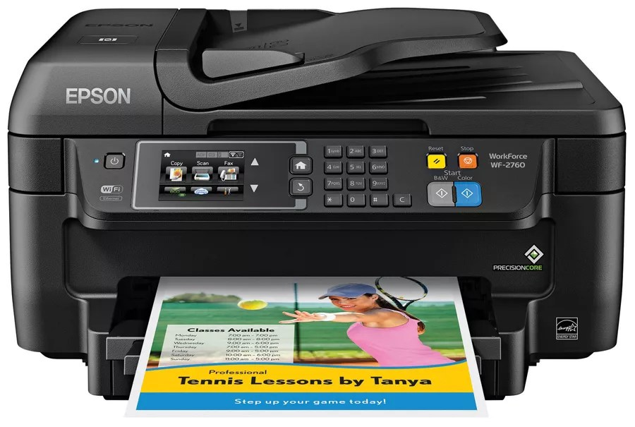 Print epson workforce wf wireless color also inkjet all in one printer rh officedepot