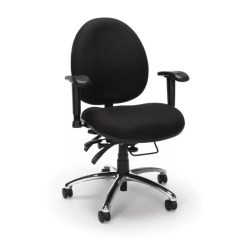 Big And Tall Computer Chair Upholstered Office On Wheels Ofm 247 Series 24 Hour Task Black By
