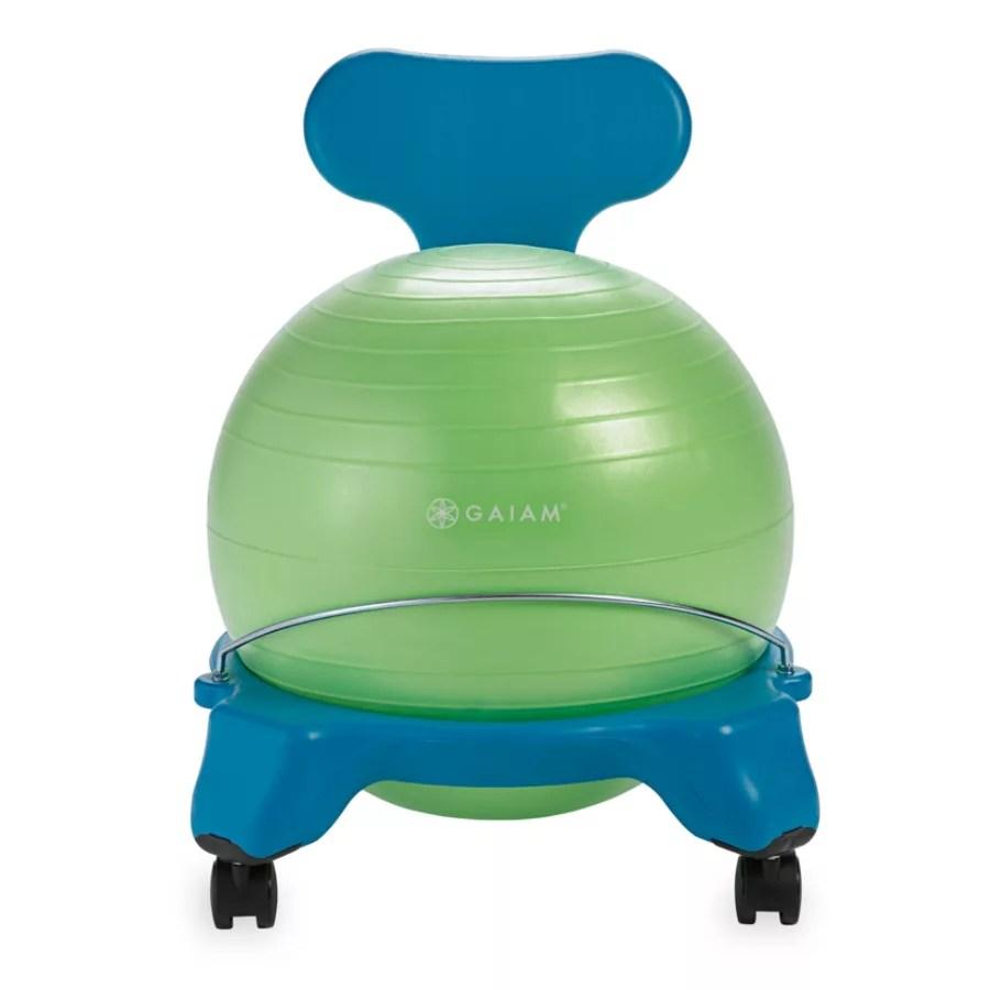 balance chair for kids modern yellow gaiam ball bluegreen office depot blue green
