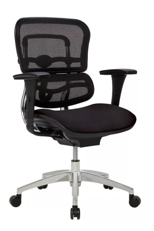 ergonomic chair description revolving cream workpro 12000 series black office depot mid back mesh fabric