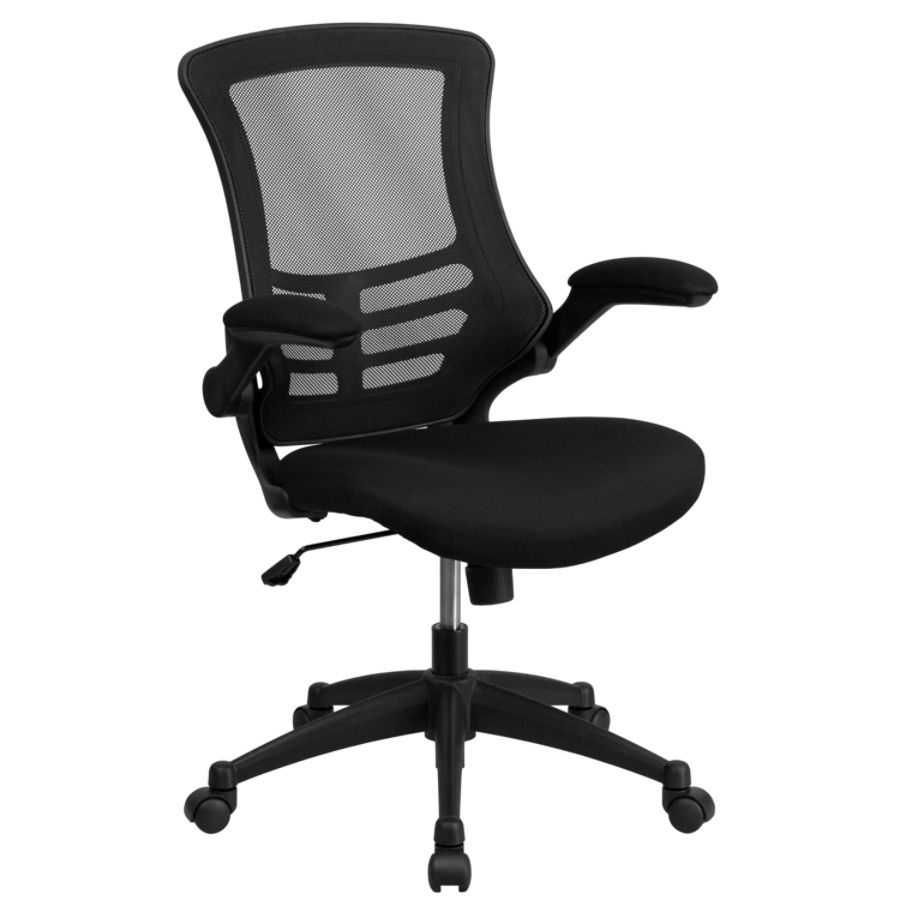 task chair without arms vinyl folding chairs browse office depot officemax flash furniture mesh mid back swivel