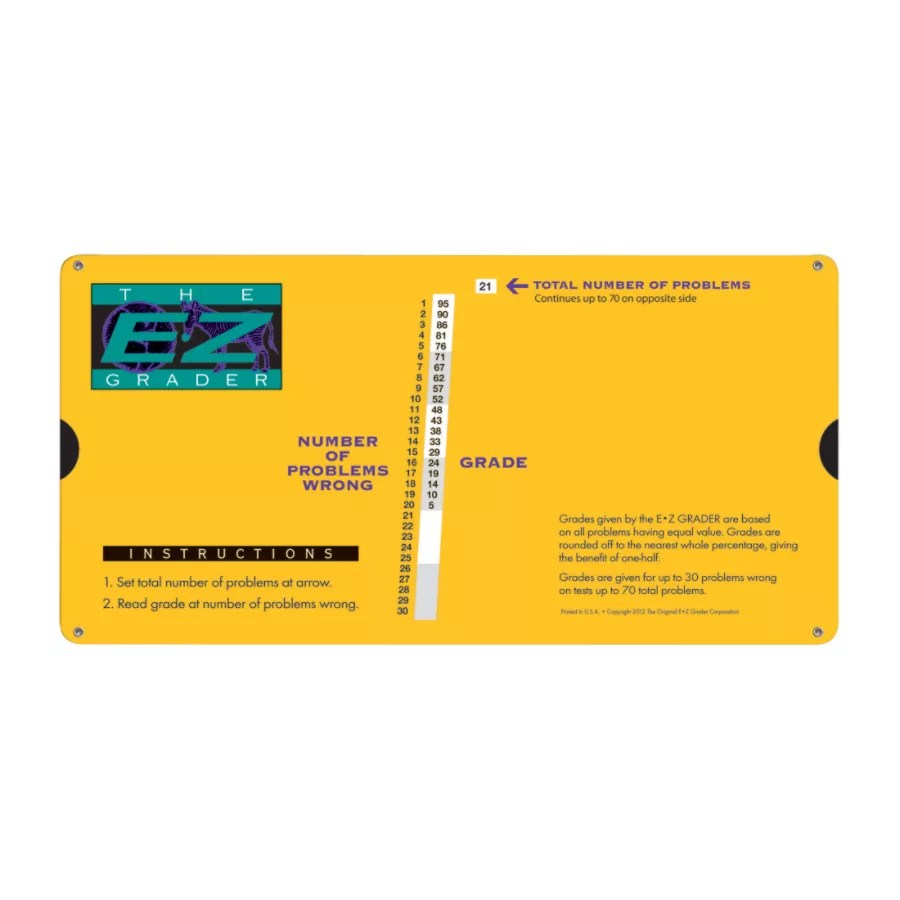 The original   grader large also print slide charts yellow pack of by rh officedepot