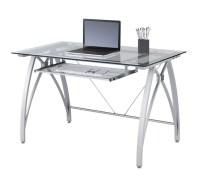 Realspace Vista Glass Computer Desk Silver by Office Depot ...