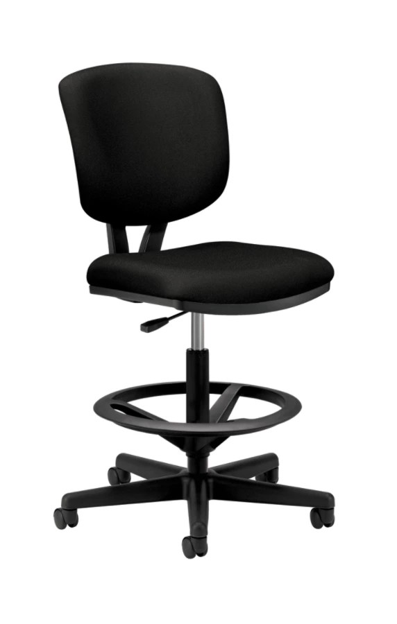 adjustable height chairs with lumbar support hon volt stool 50 h x 27 w 29 12 d black
