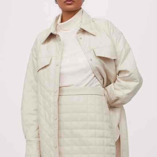hm-ensemble-jupe-veste-matelassée
