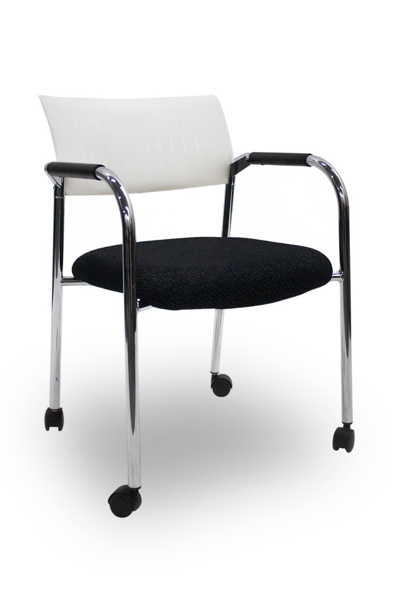 Dauphin Chairs Dauphin Mobile Stack Chair Black White