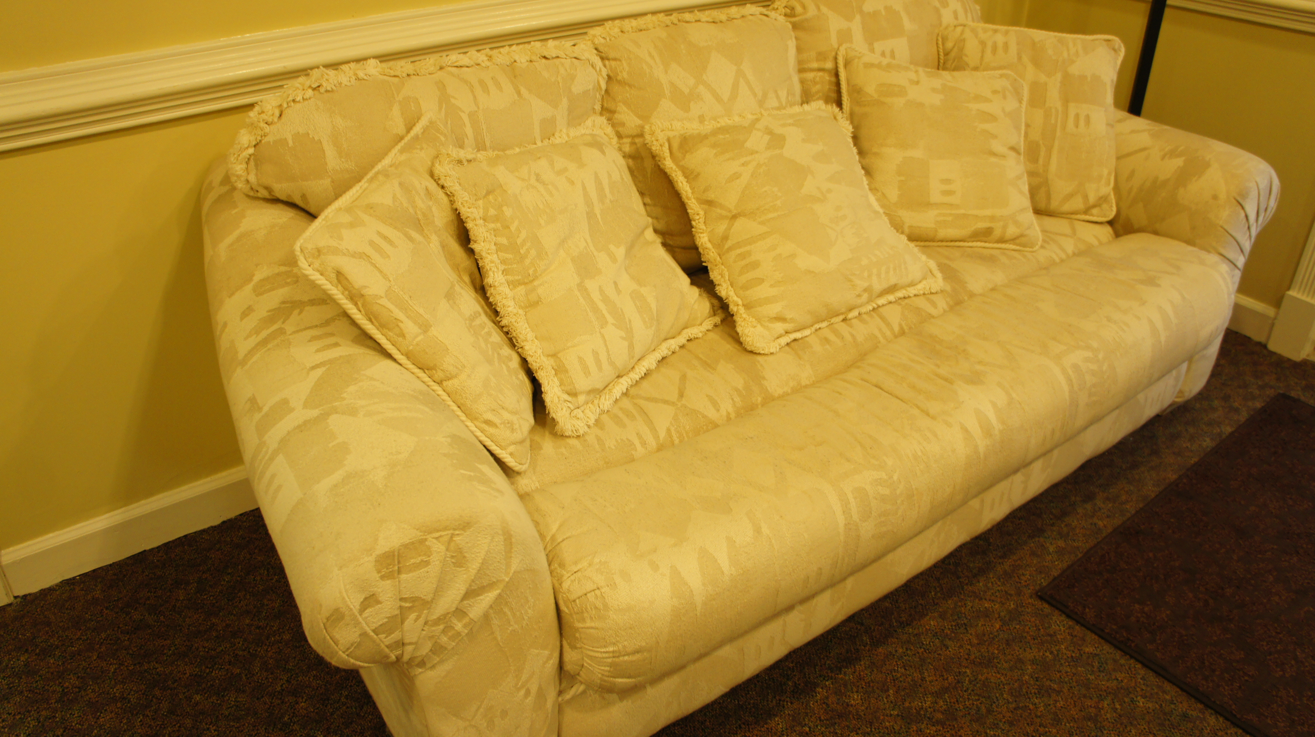 sofa liquidation sale down pillow inserts office couch loveseat and glass coffee table set alan