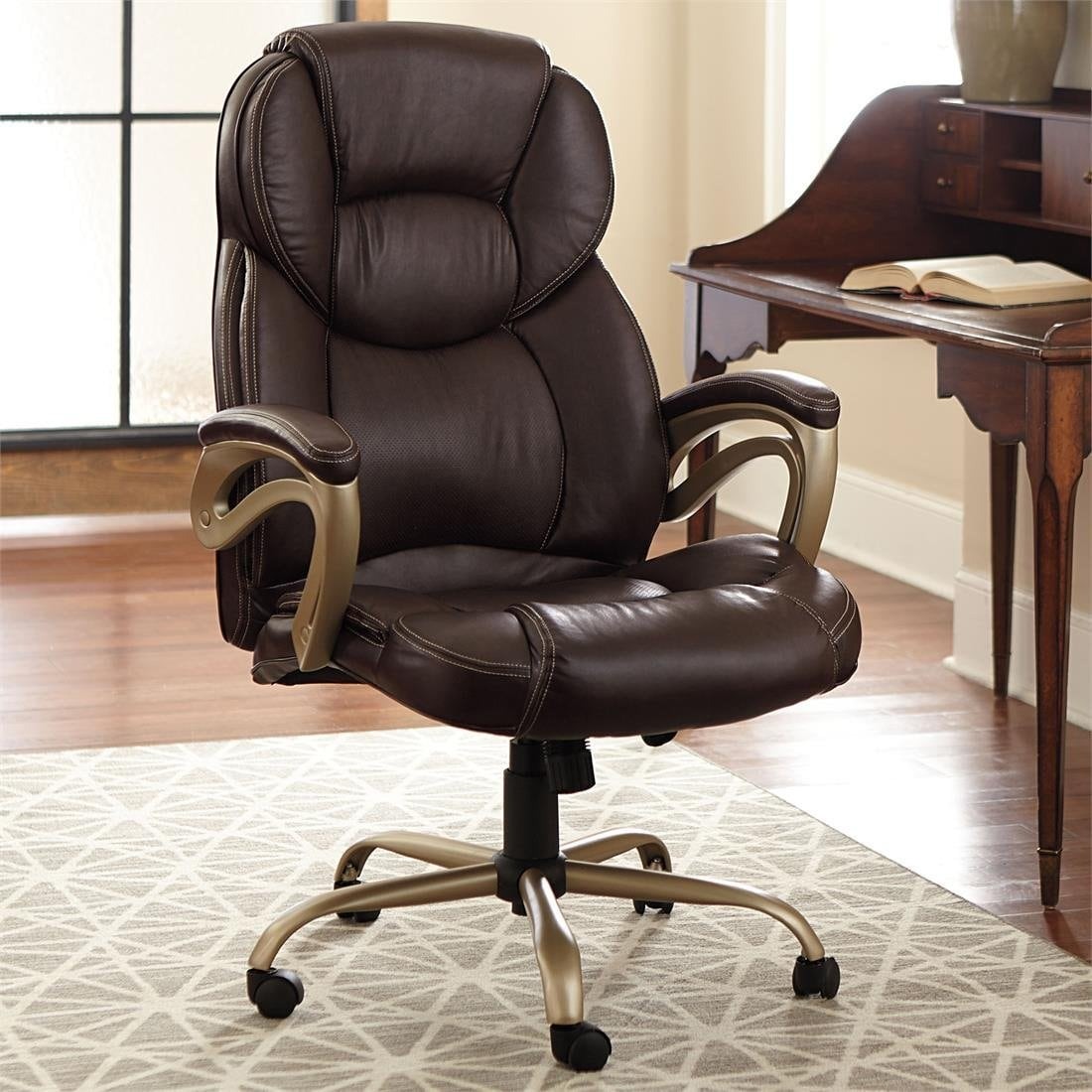 office chair neck support attachment staples skate dark chairs for big guys furniture