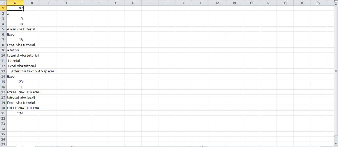 VBA character functions (string functions, text functions in Excel VBA)