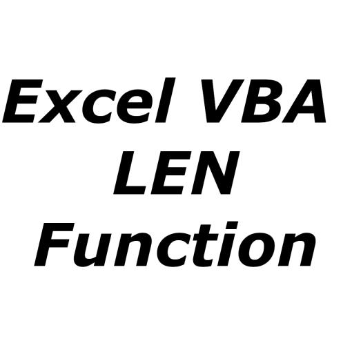 Excel VBA LEN function