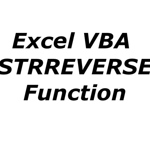 Excel VBA STRREVERSE function
