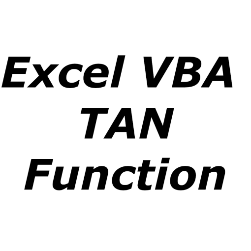 Excel VBA TAN function