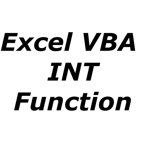 Excel VBA INT function