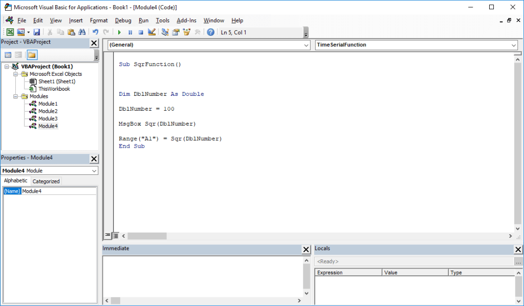 Excel VBA functions - SQR VBA function