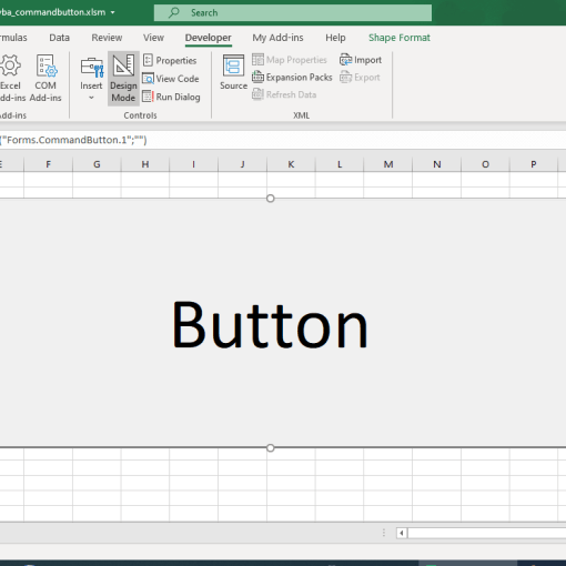 ActiveX controls - CommandButton in Excel VBA