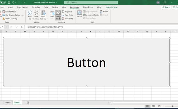 ActiveX controls - CommandButton in Excel VBA