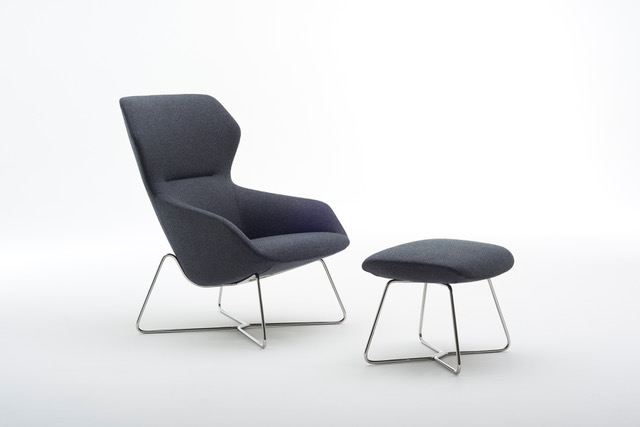 jehs laub lounge chair lucite chairs ikea davis ginkgo high back - new wire base | officeinsight