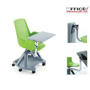 LEISURE Plastic Grey School Chair
