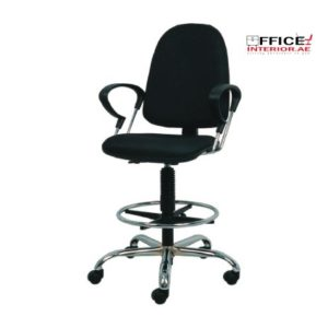 Secretary Chair With Chrome Arms