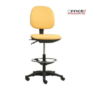 Secretary Chair With Metal Footring