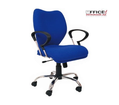 Secretary Chair with Chromium Poly Arms