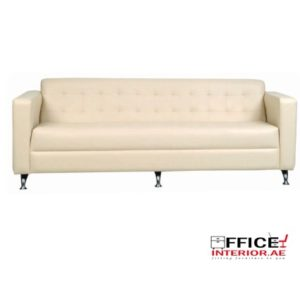 Three Seater Sofa on Chrome Legs